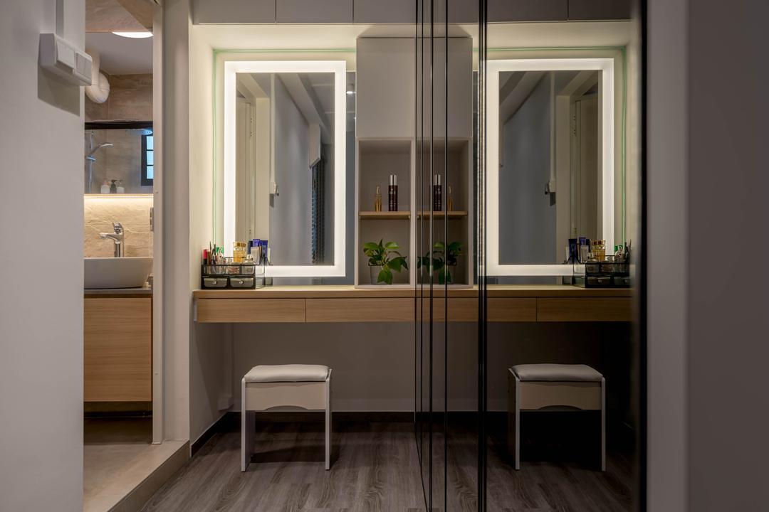 Jurong West Street 65, Zenith Arc, Contemporary, Bedroom, HDB, Vanity, Dresser