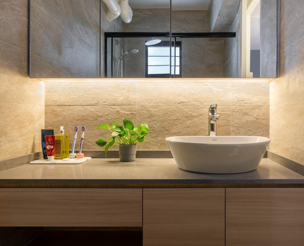 Contemporary, HDB, Bathroom, Jurong West Street 65, Interior Designer, Zenith Arc