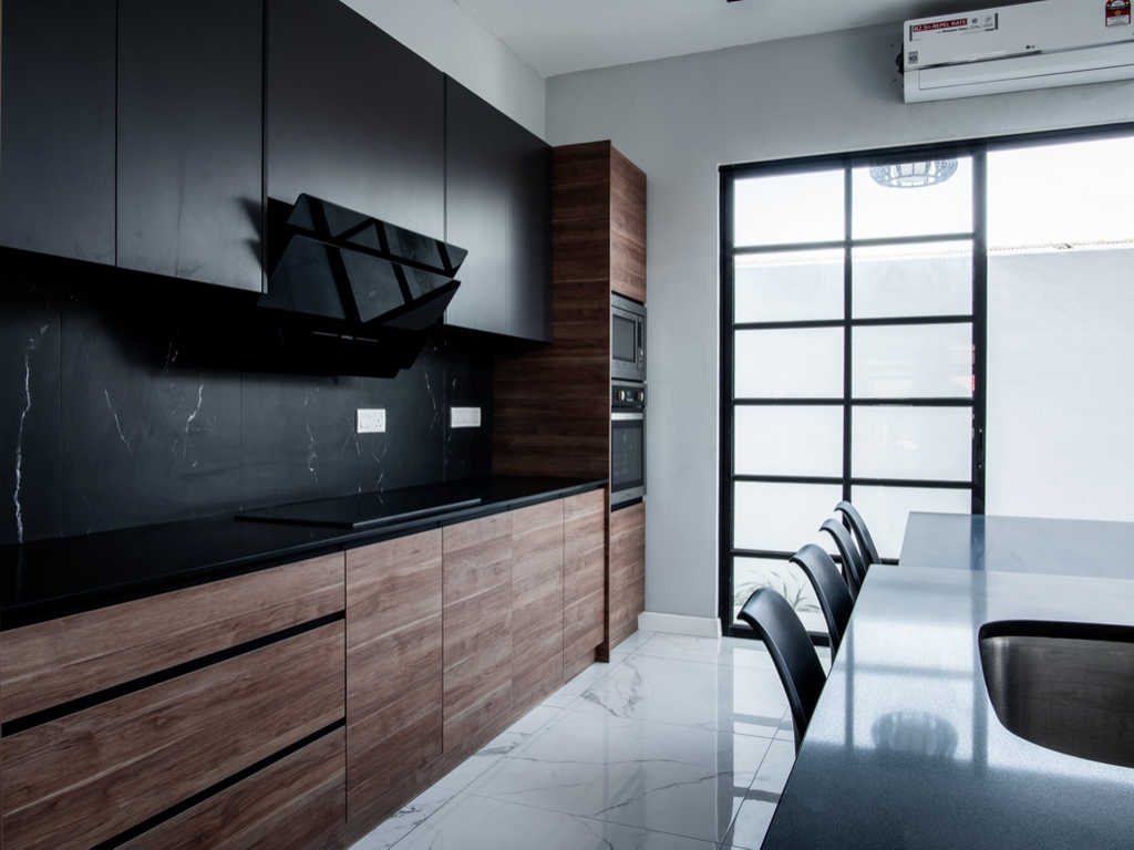 Industrial, Landed, Kitchen, Twin Palms, Kajang, Interior Designer, E&Q Cabinet Sdn. Bhd., Modern