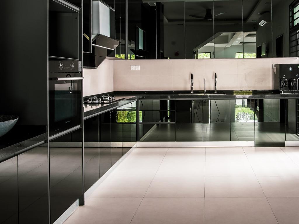 Modern, Landed, Kitchen, Bangsar, Kuala Lumpur, Interior Designer, E&Q Cabinet Sdn. Bhd.