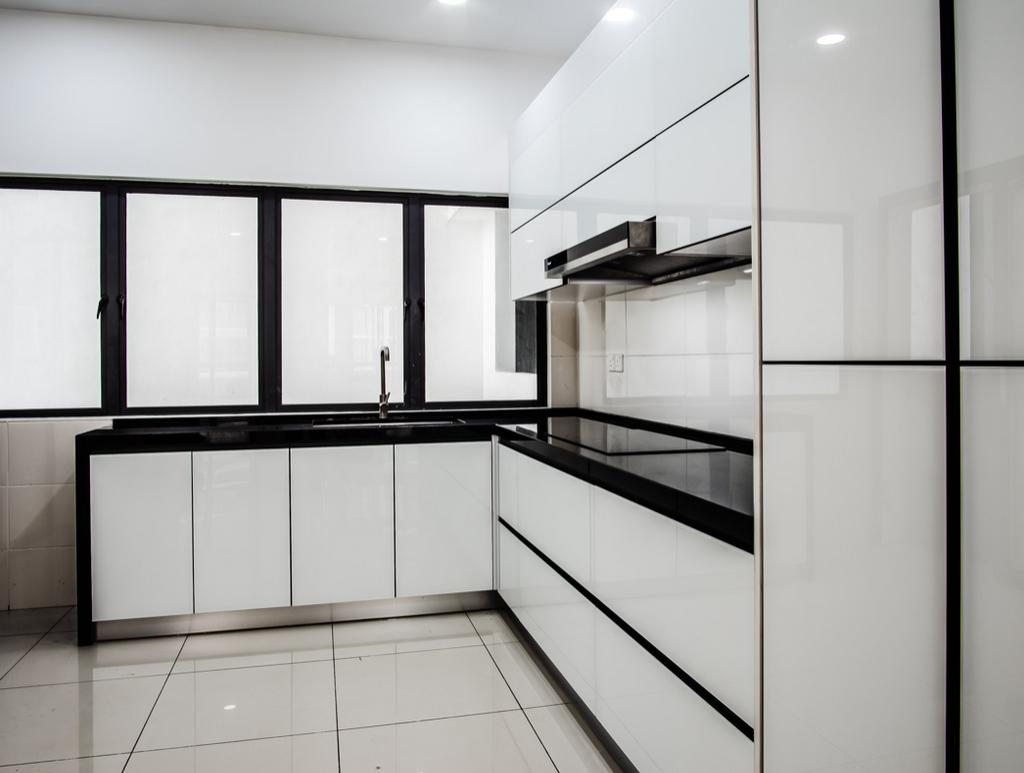 Minimalist, Condo, Kitchen, Kepong, Kuala Lumpur, Interior Designer, E&Q Cabinet Sdn. Bhd.