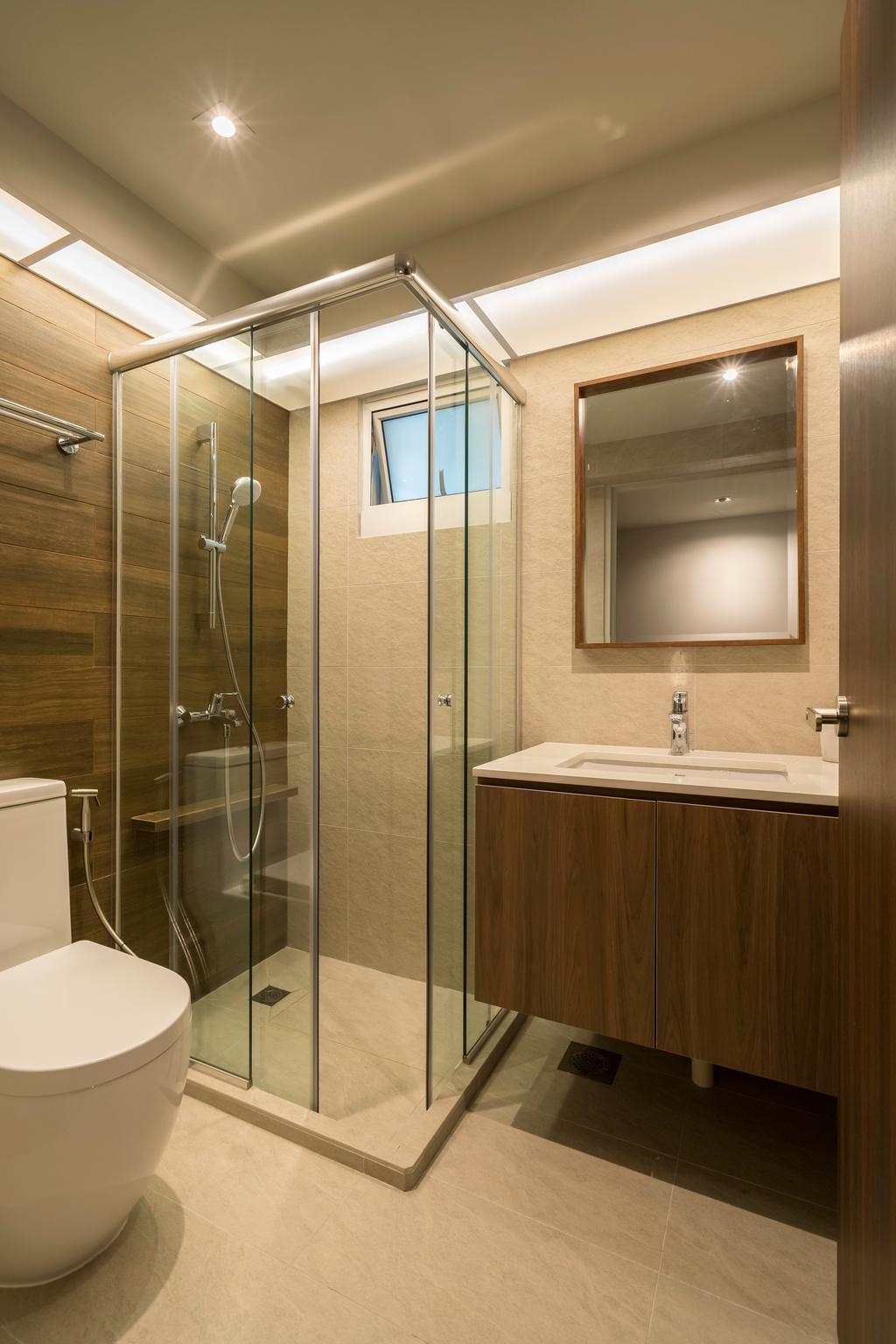 Modern, HDB, Bathroom, Circuit Road, Interior Designer, Forefront Interior