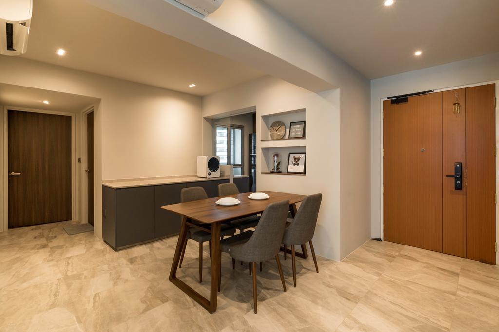 Modern, HDB, Dining Room, Circuit Road, Interior Designer, Forefront Interior