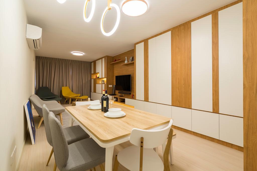 Contemporary, HDB, Dining Room, Bedok Reservoir View, Interior Designer, The Interior Place