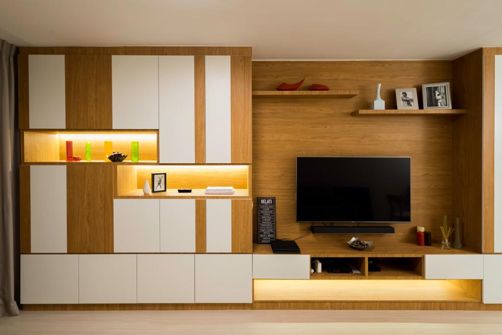 Contemporary, HDB, Living Room, Bedok Reservoir View, Interior Designer, The Interior Place
