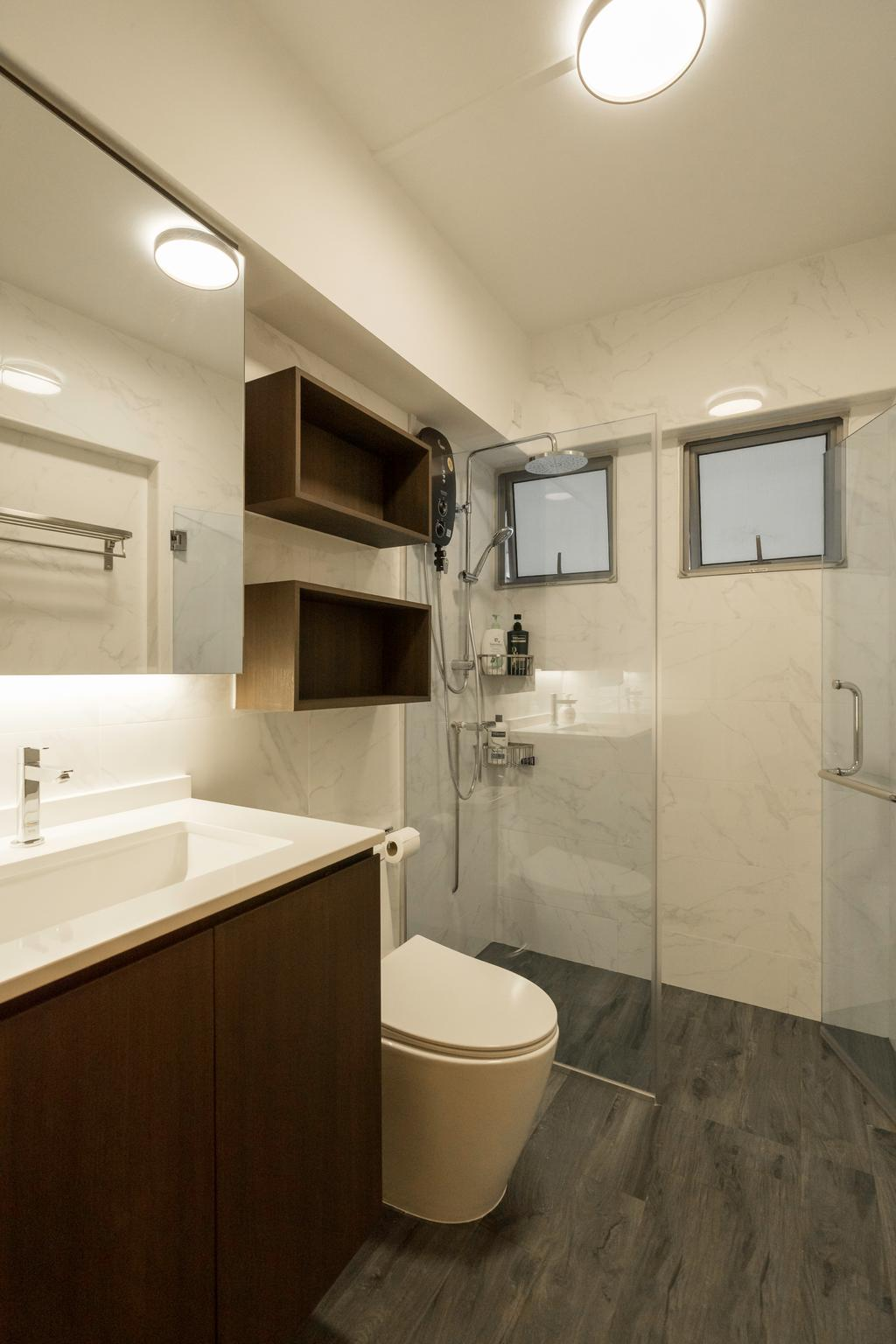 Contemporary, HDB, Bathroom, Bedok Reservoir View, Interior Designer, The Interior Place