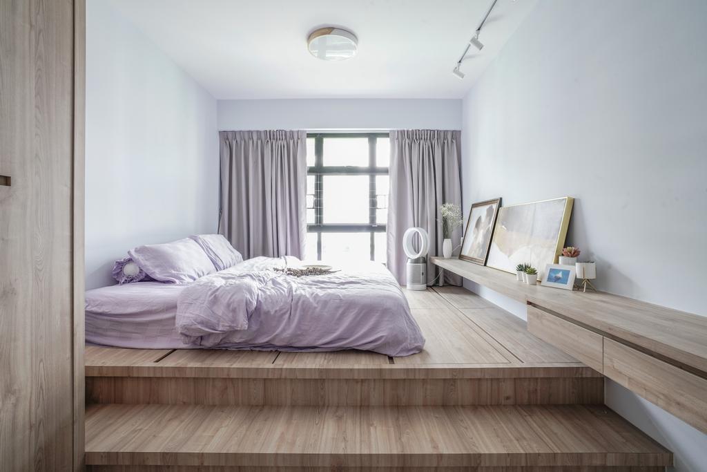 Minimalistic, HDB, Bedroom, Tampines Street 61, Interior Designer, Couple Abode