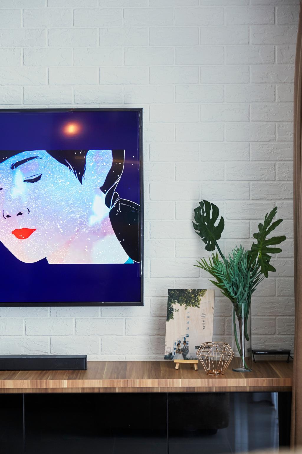 Contemporary, HDB, Living Room, Sumang Walk, Interior Designer, SHE Interior