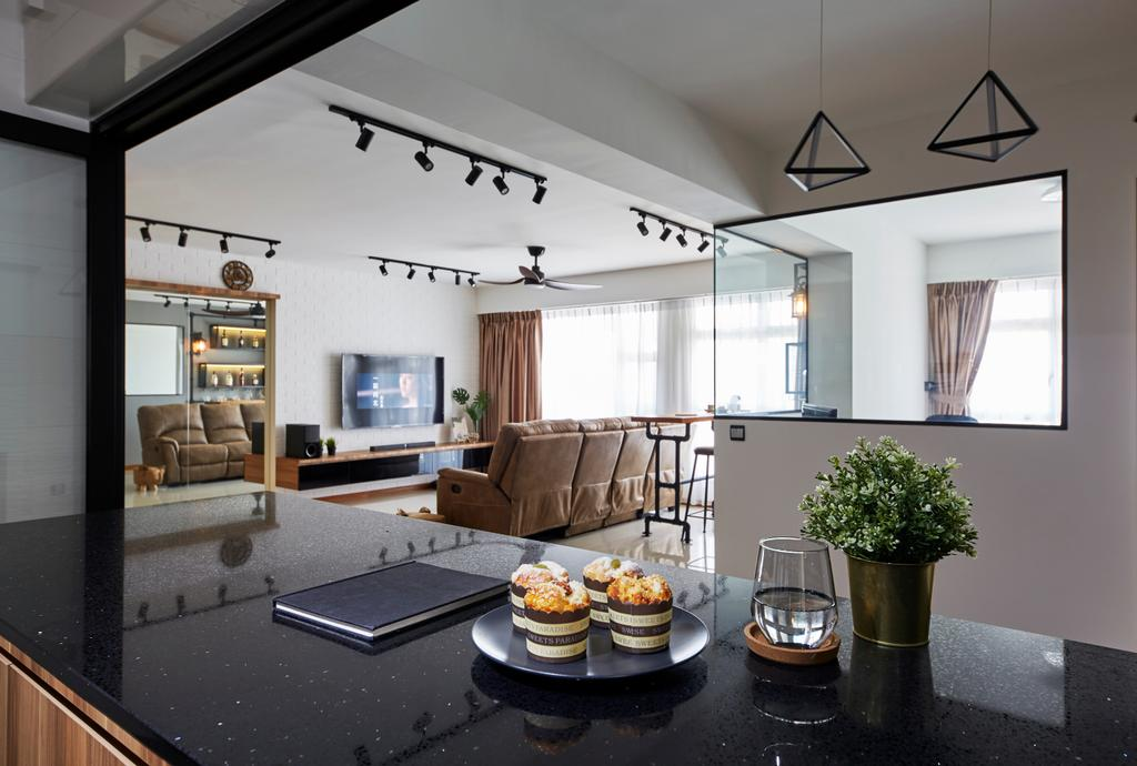 Contemporary, HDB, Kitchen, Sumang Walk, Interior Designer, SHE Interior