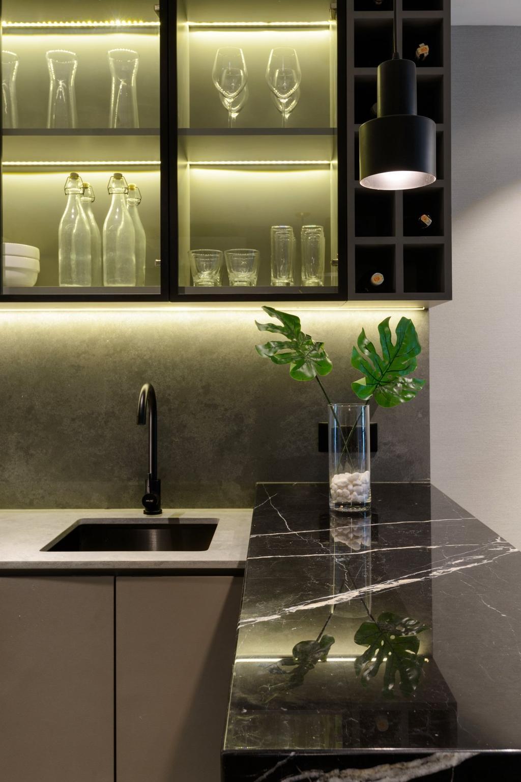 Contemporary, Condo, Kitchen, Tropicana Bay Residences, Interior Designer, Nevermore Group