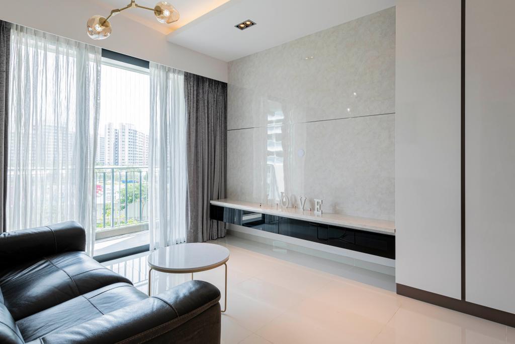Contemporary, Condo, Living Room, Esparina Residences, Interior Designer, Swiss Interior Design