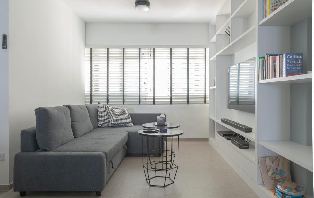 Minimalist, HDB, Living Room, Bedok Reservoir Road, Interior Designer, Yang's Inspiration Design, Contemporary
