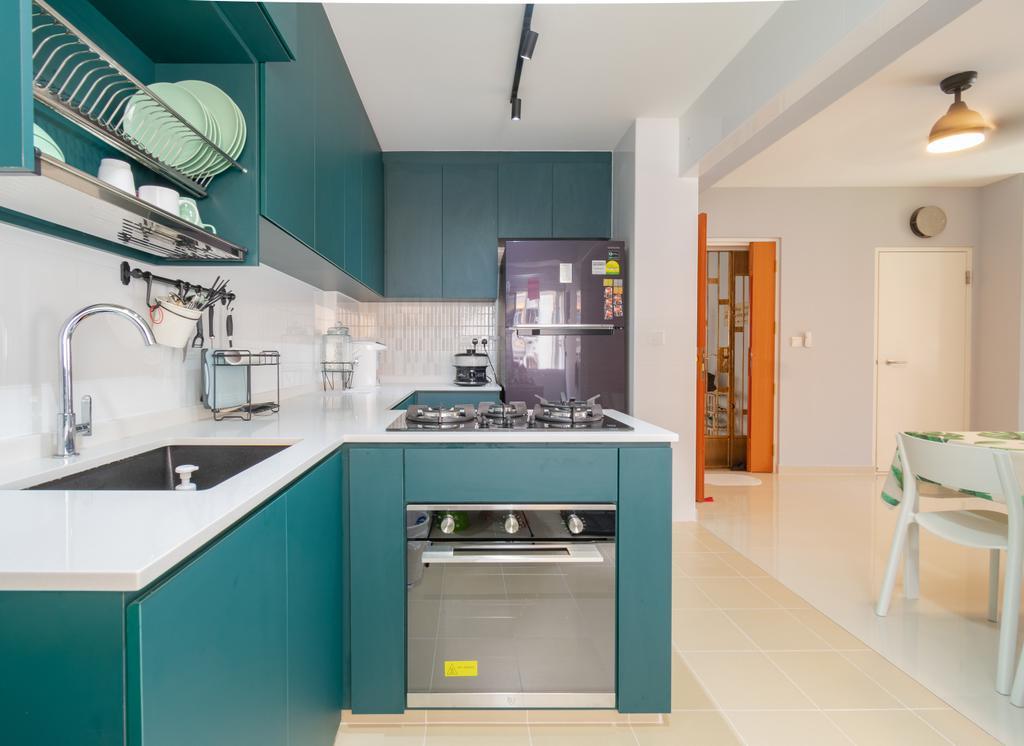 Contemporary, HDB, Kitchen, Bukit Batok West Avenue 8, Interior Designer, Yang's Inspiration Design