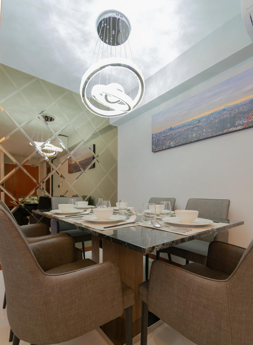 Contemporary, HDB, Dining Room, Bukit Batok West Avenue 8, Interior Designer, Yang's Inspiration Design
