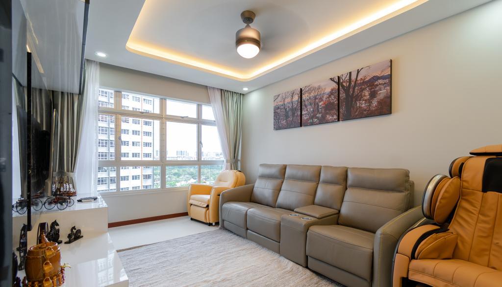 Contemporary, HDB, Living Room, Bukit Batok West Avenue 8, Interior Designer, Yang's Inspiration Design