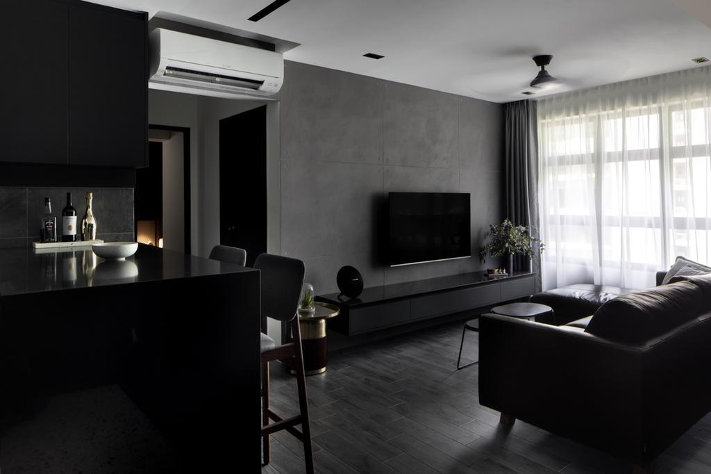 Contemporary, HDB, Living Room, Tampines Street 61, Interior Designer, The Local INN.terior 新家室