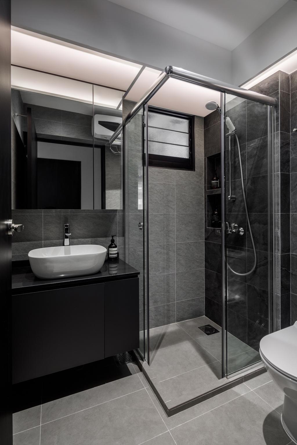 Contemporary, HDB, Bathroom, Tampines Street 61, Interior Designer, The Local INN.terior 新家室