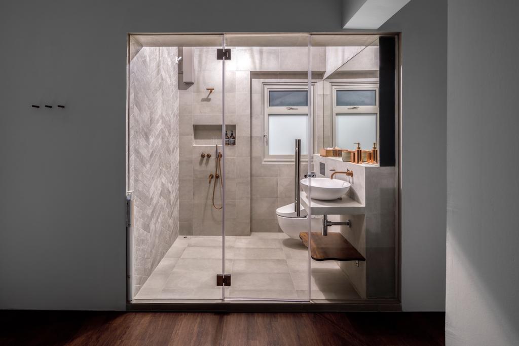 Contemporary, HDB, Bathroom, Tampines (Block 494), Interior Designer, The Local INN.terior 新家室, Open Bathroom