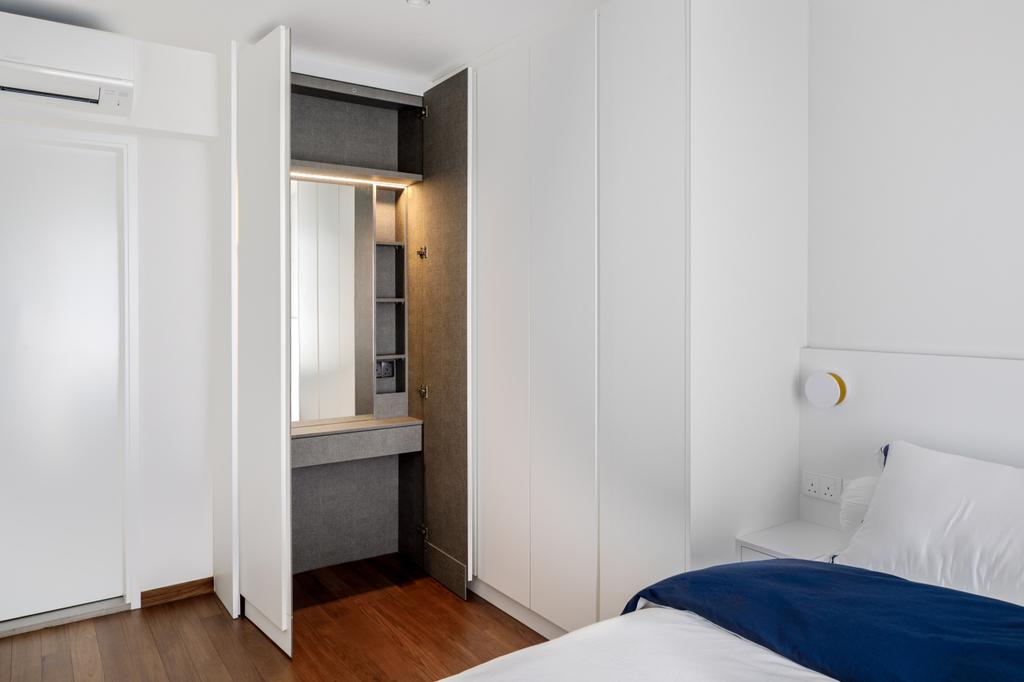 Contemporary, HDB, Bedroom, Sumang Walk, Interior Designer, The Local INN.terior 新家室, Dresser, Vanity, Hidden Storage, Concealed Storage