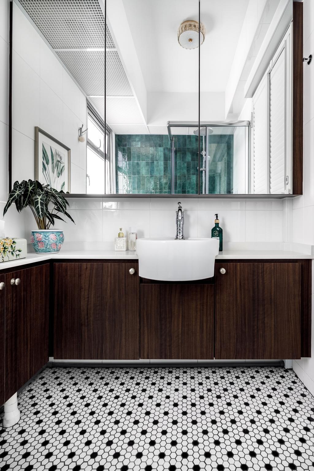Eclectic, HDB, Bathroom, St. George's Lane, Interior Designer, The Local INN.terior 新家室, Vintage