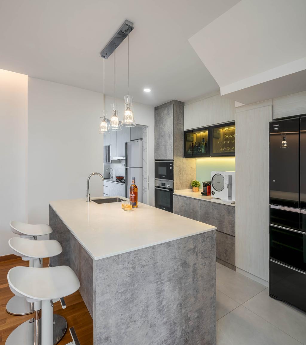 Modern, Landed, Kitchen, Eastwood Terrace, Interior Designer, Weiken.com, Contemporary