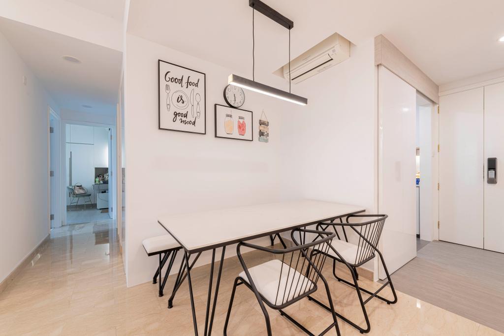 Contemporary, Condo, Dining Room, Guilin View, Interior Designer, Omni Design