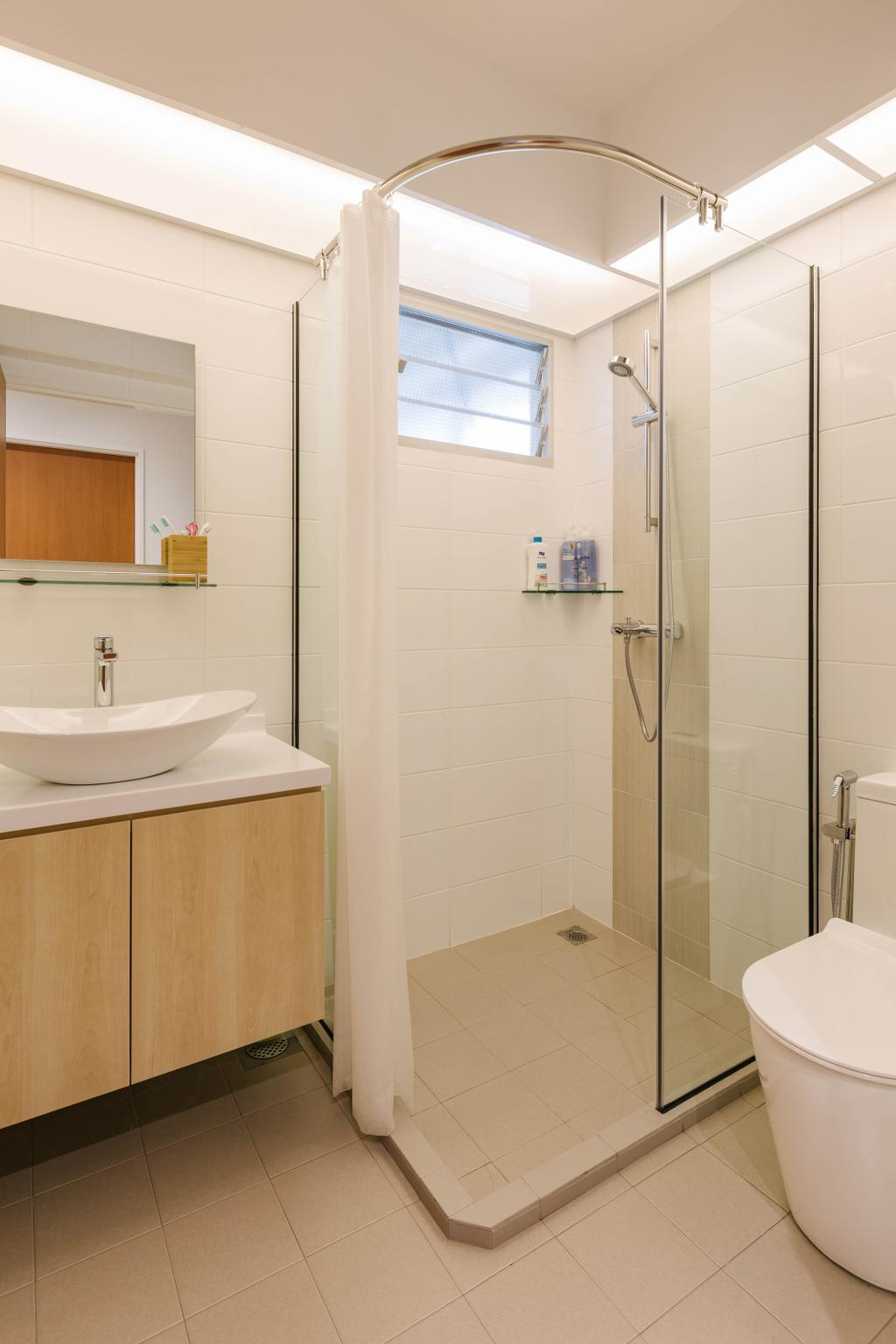 Scandinavian, HDB, Bathroom, Canberra Walk, Interior Designer, Style Living Interior
