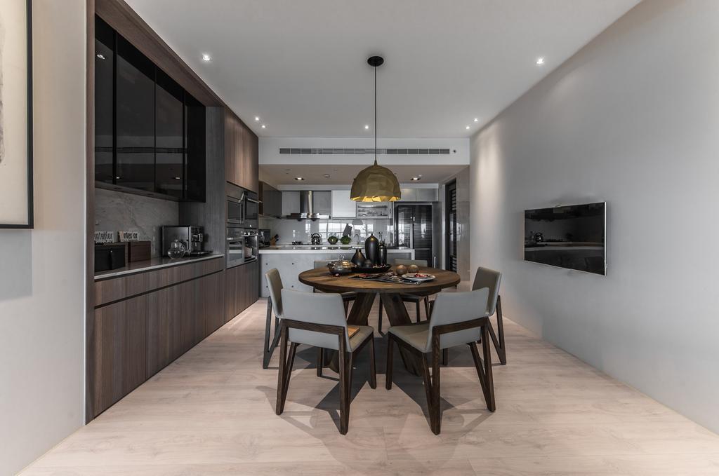 Modern, Condo, Dining Room, 10 Mont Kiara, Kuala Lumpur, Interior Designer, Wo Design Studio, Contemporary