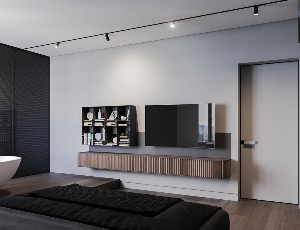 Modern, Condo, Bedroom, Hamsphire Park, KLCC, Interior Designer, Wo Design Studio