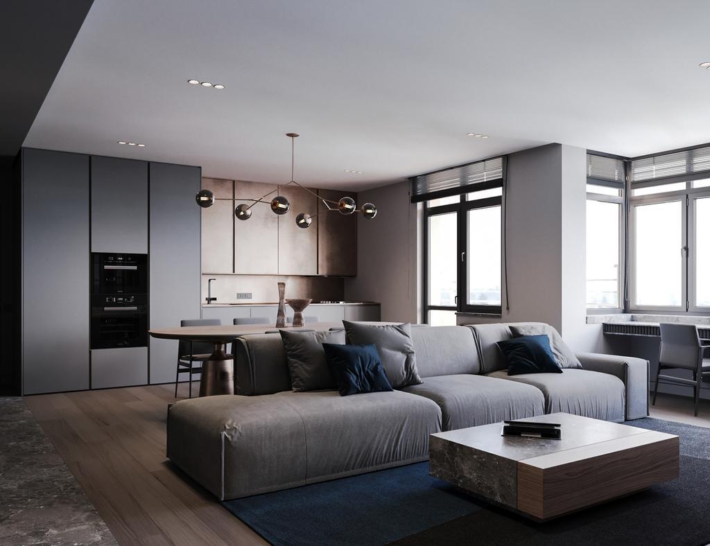 Modern, Condo, Living Room, Hamsphire Park, KLCC, Interior Designer, Wo Design Studio
