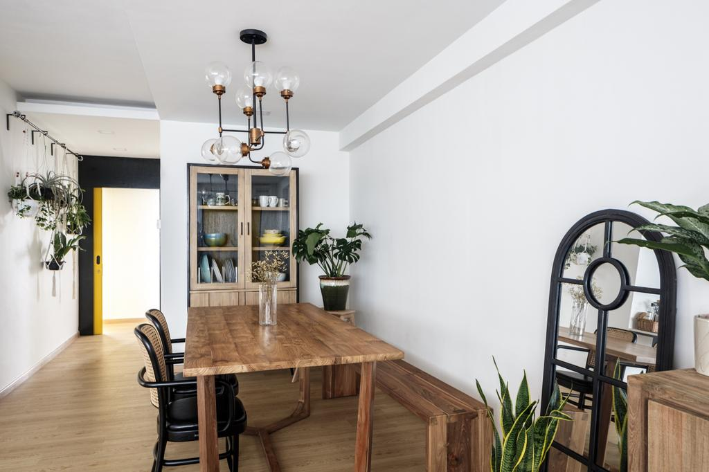 Vintage, HDB, Dining Room, Cassia Crescent, Interior Designer, The Local INN.terior 新家室, Contemporary