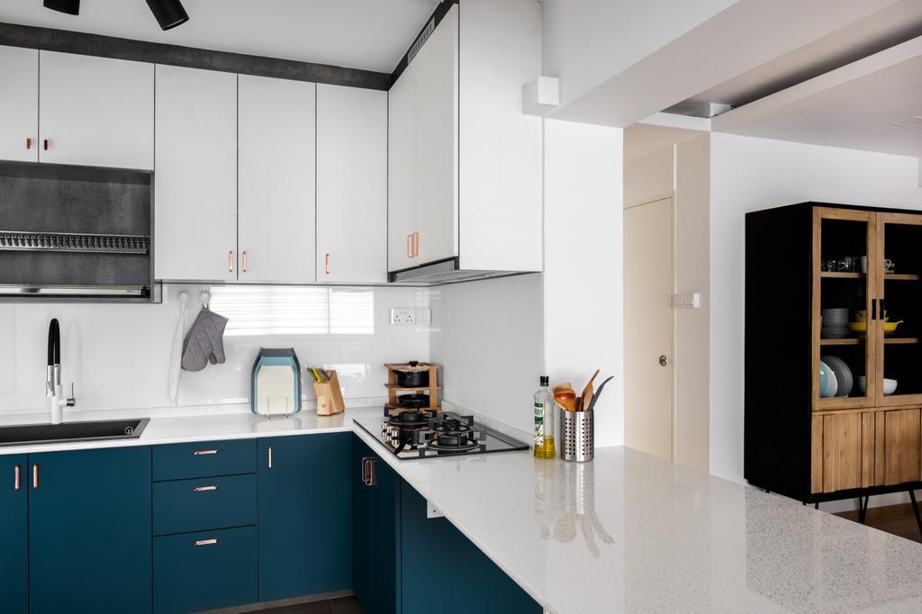 Vintage, HDB, Kitchen, Cassia Crescent, Interior Designer, The Local INN.terior 新家室, Contemporary