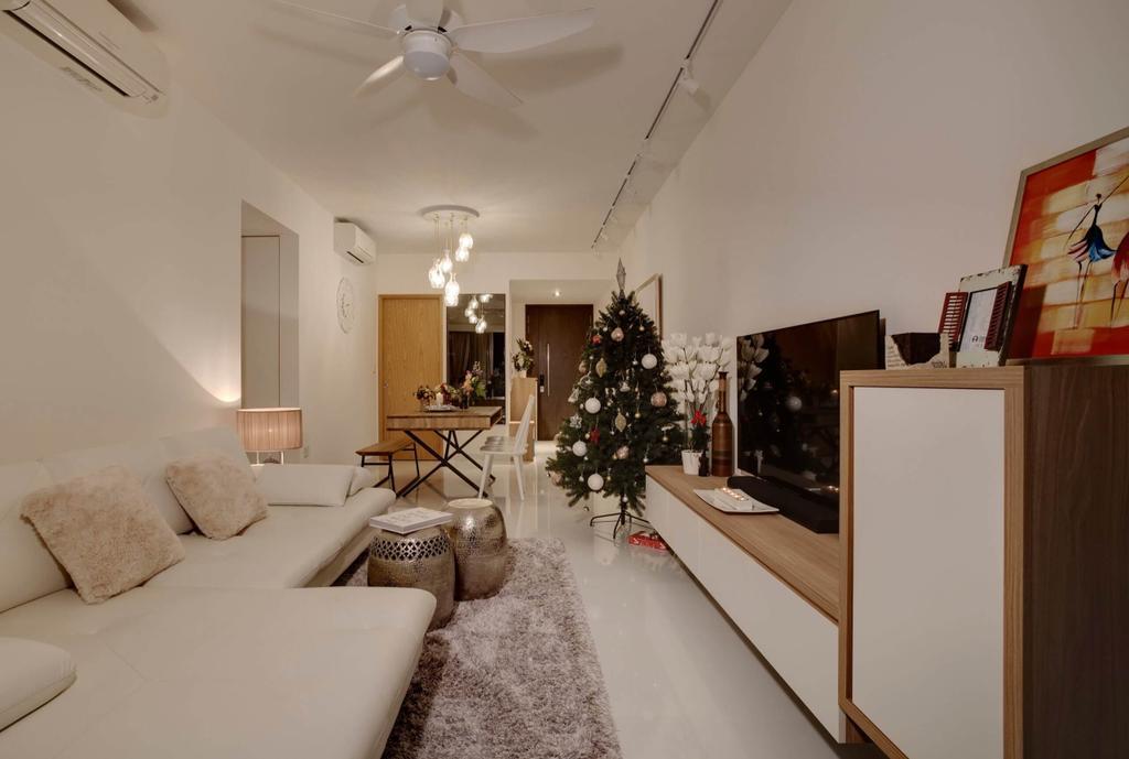 Contemporary, Condo, Living Room, Parc Olympia, Interior Designer, Space Factor