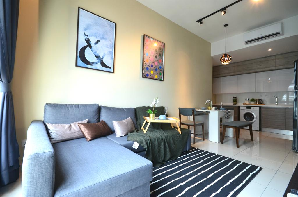 Scandinavian, Condo, Living Room, BLVD 28, Pandan Perdana, Interior Designer, Anwill Design Sdn Bhd