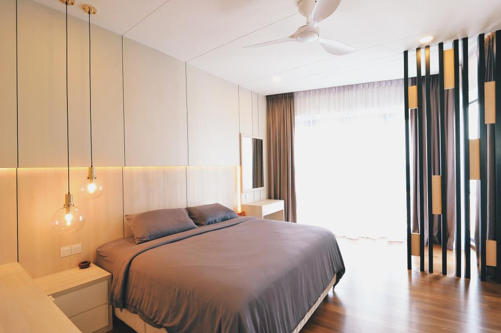 Modern, Condo, Bedroom, Sky Condo Residence, Puchong, Interior Designer, The Grid Studio, Contemporary