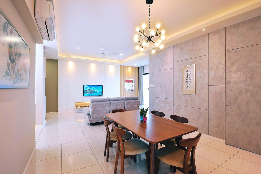 Modern, Condo, Dining Room, Sky Condo Residence, Puchong, Interior Designer, The Grid Studio, Contemporary
