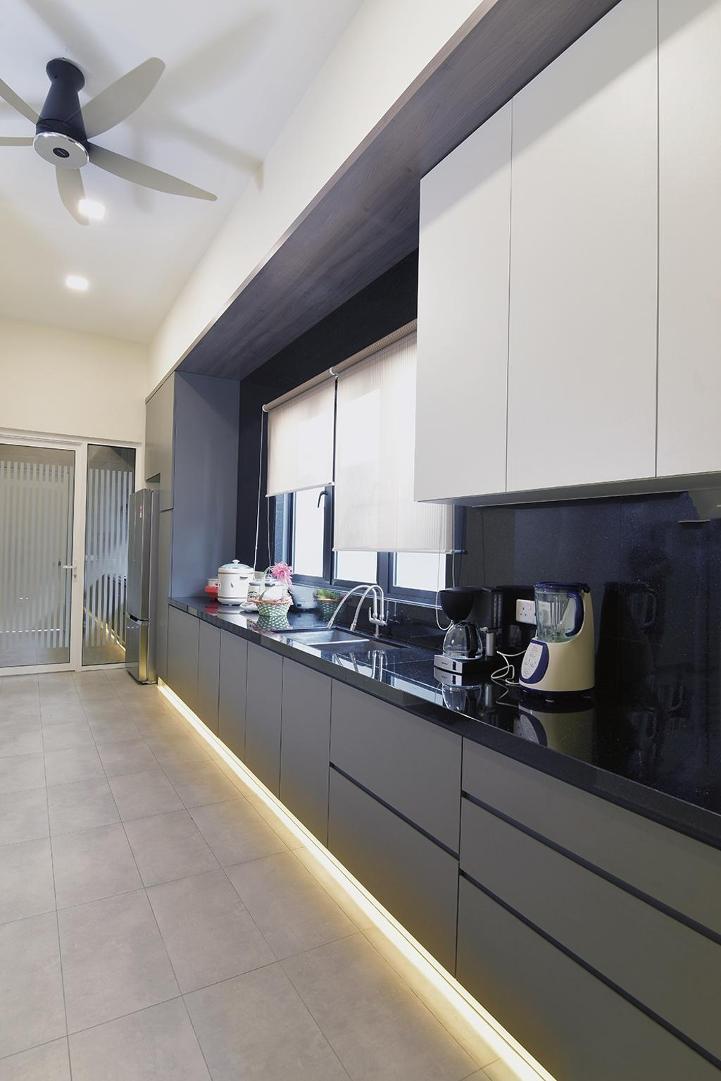 Modern, Landed, Kitchen, Laman Villa Residence, Klang, Interior Designer, The Grid Studio, Contemporary