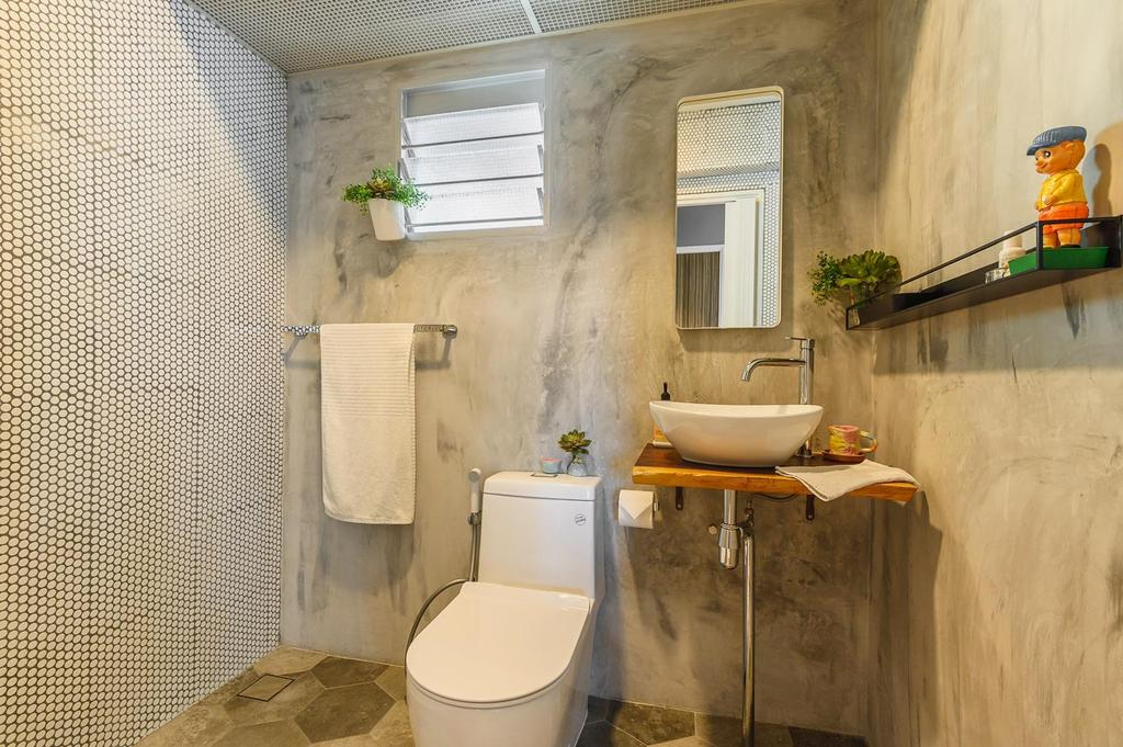 Industrial, HDB, Bathroom, Punggol, Interior Designer, Le Interi, Eclectic