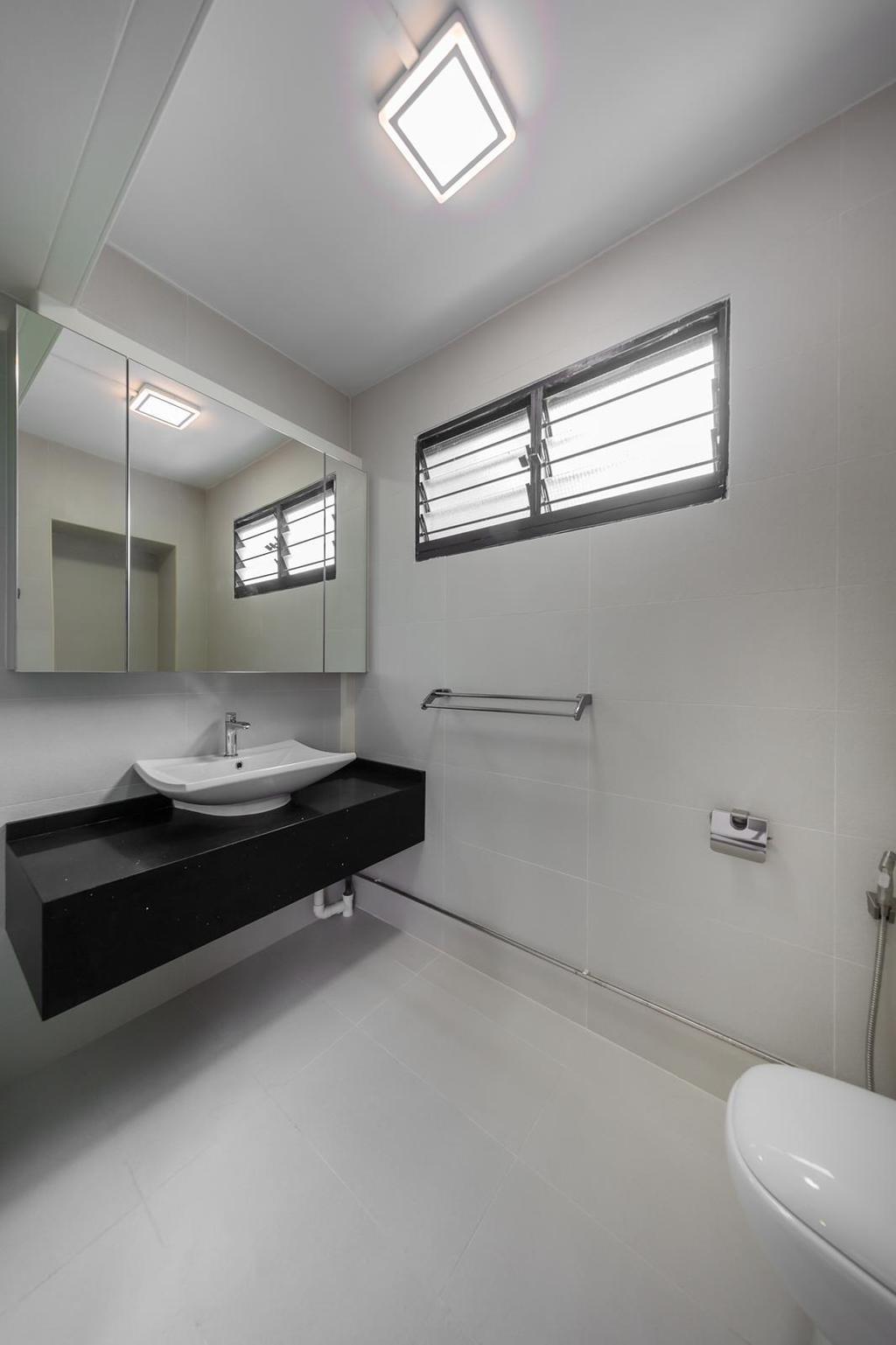 Modern, HDB, Bathroom, Marsiling, Interior Designer, Le Interi