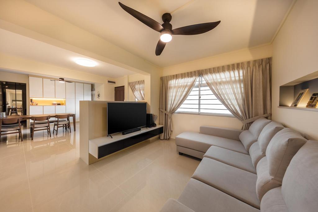 Modern, HDB, Living Room, Marsiling, Interior Designer, Le Interi