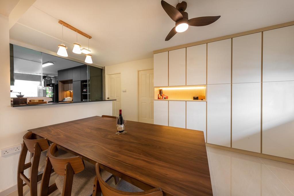 Modern, HDB, Dining Room, Marsiling, Interior Designer, Le Interi