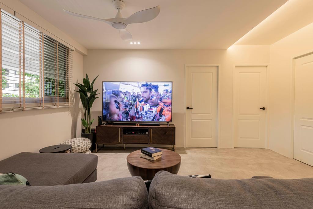 Contemporary, HDB, Living Room, Teck Whye Lane, Interior Designer, Escapade Studios