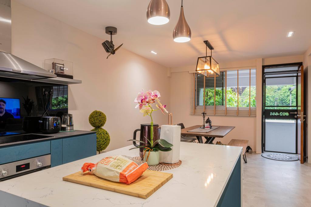 Contemporary, HDB, Kitchen, Teck Whye Lane, Interior Designer, Escapade Studios