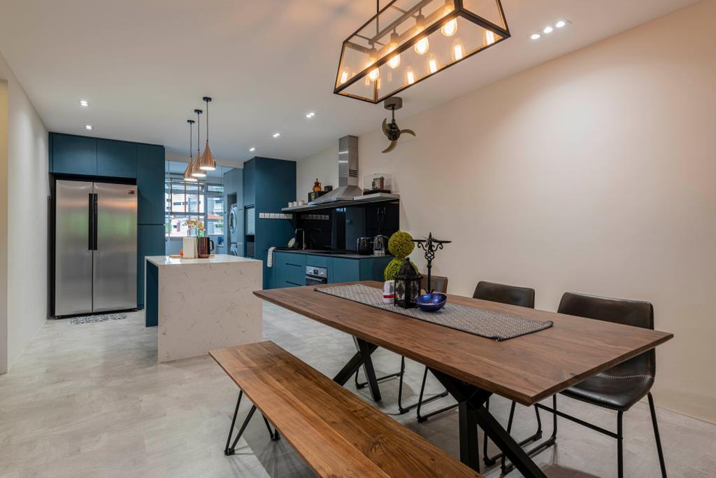 Contemporary, HDB, Dining Room, Teck Whye Lane, Interior Designer, Escapade Studios