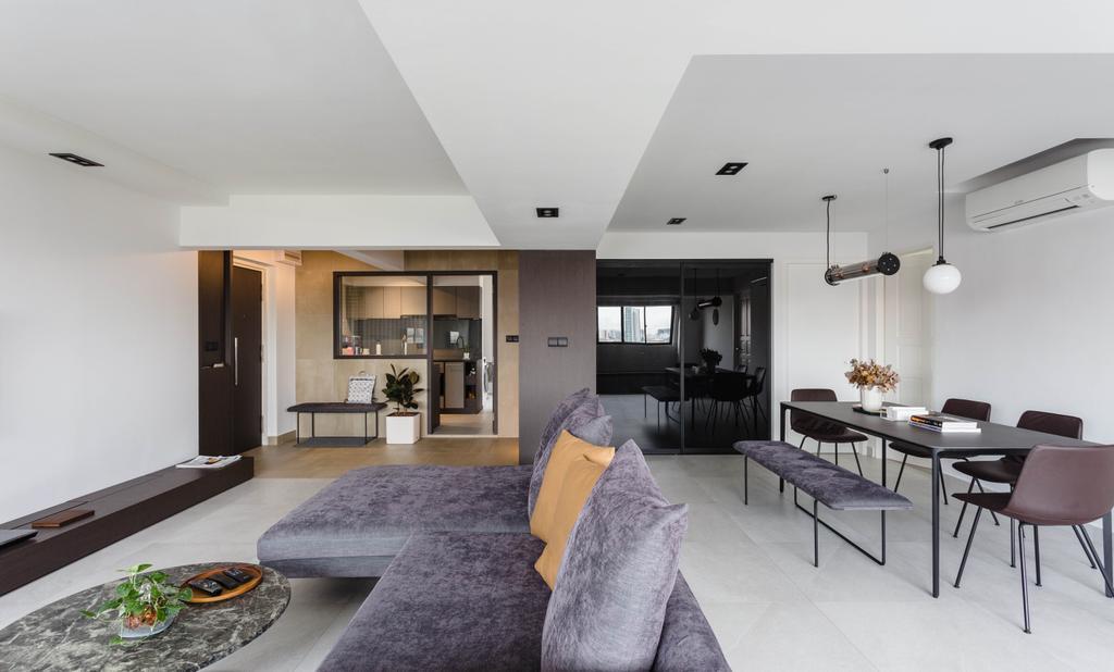 Contemporary, HDB, Living Room, Bishan Street 13, Interior Designer, Habit