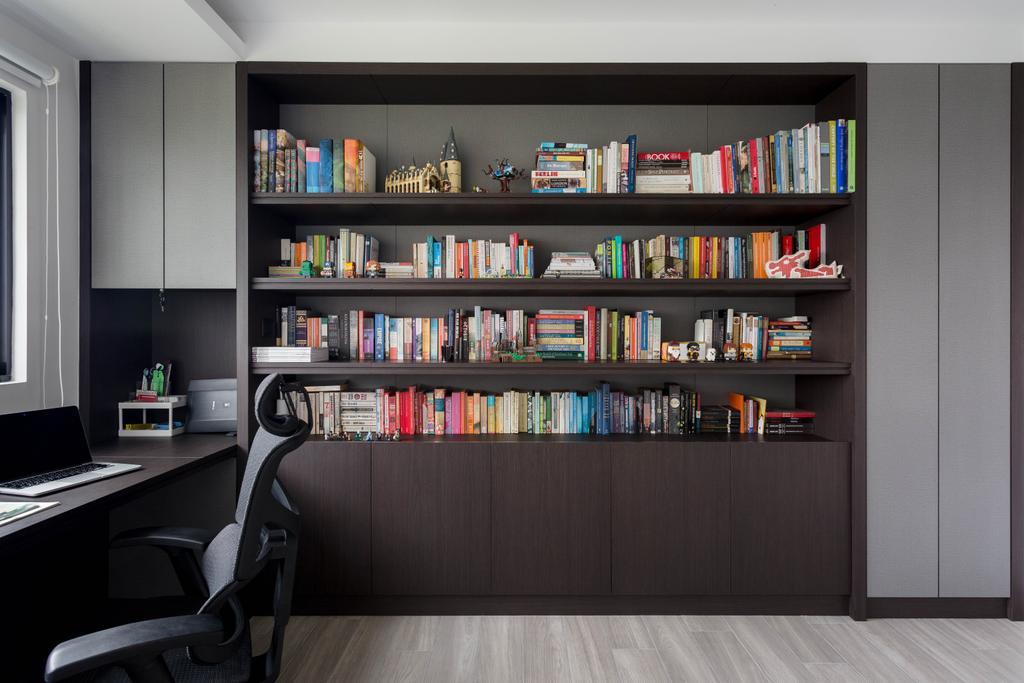 Contemporary, HDB, Study, Bishan Street 13, Interior Designer, Habit
