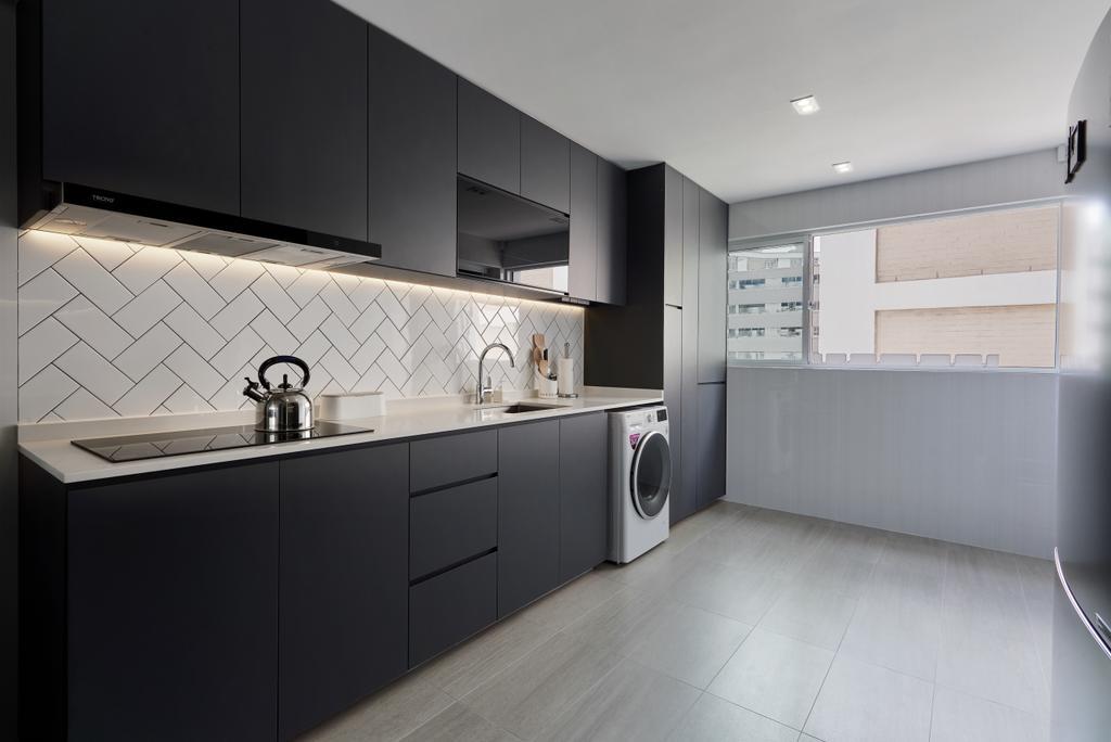 Modern, HDB, Kitchen, Serangoon Central, Interior Designer, SHE Interior, Minimalistic