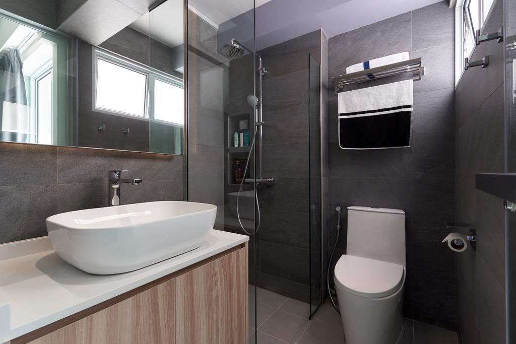 Modern, HDB, Bathroom, Serangoon Central, Interior Designer, SHE Interior, Minimalistic