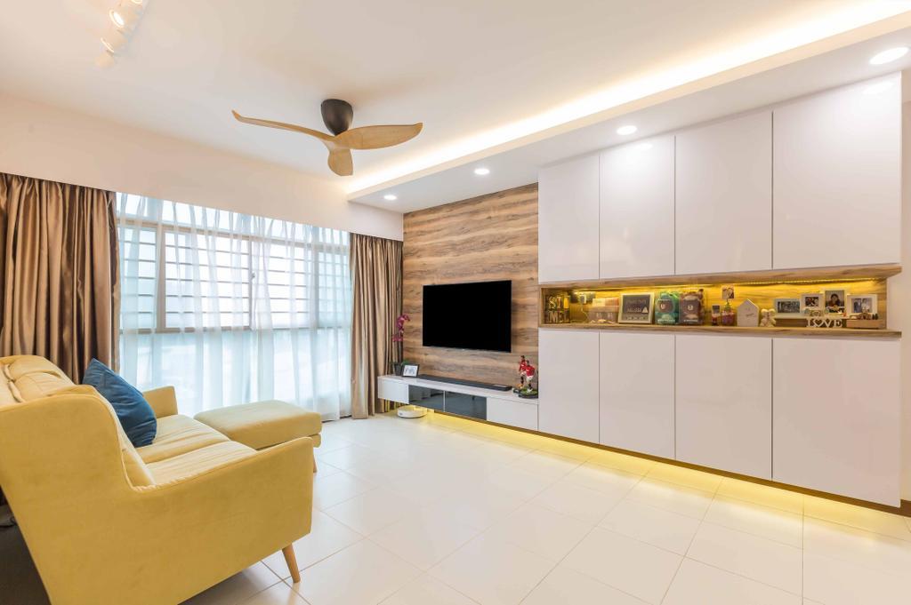 Contemporary, HDB, Living Room, Edgedale Plains, Interior Designer, Design 4 Space