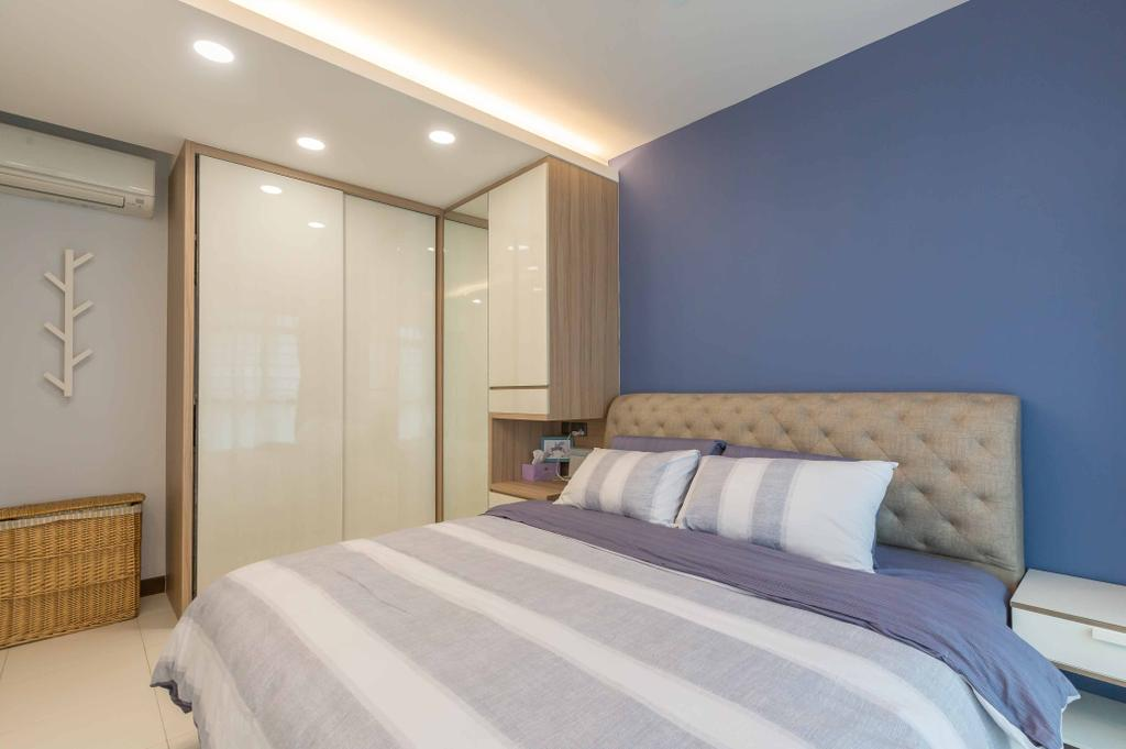 Contemporary, HDB, Bedroom, Edgedale Plains, Interior Designer, Design 4 Space